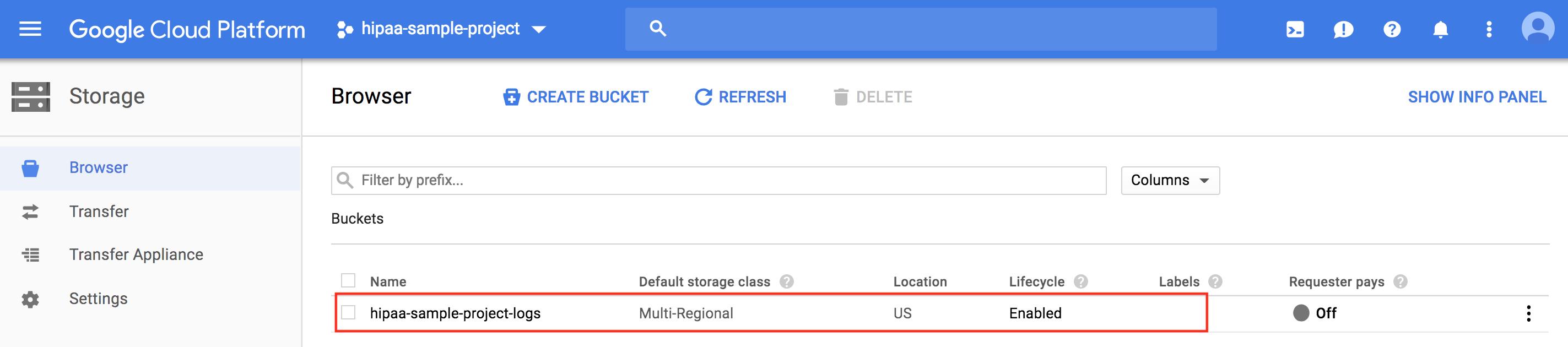Consolidación de registros para todos los proyectos de datos en un modo de registro local