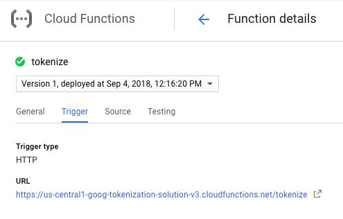 Cloud 함수의 URL 복사
