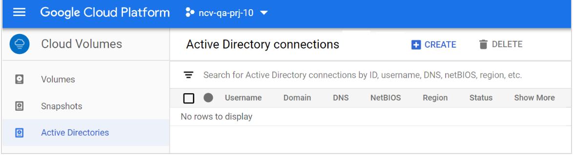 Active Directory menu