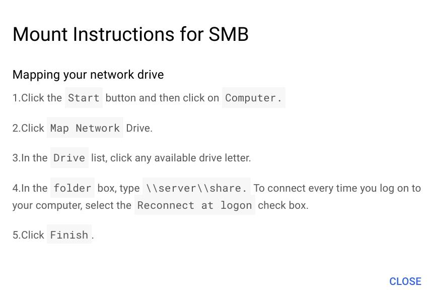 Create SMB instructions