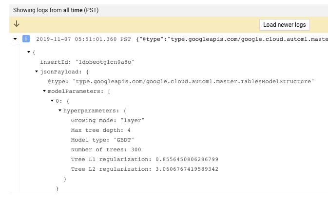 Expanded Models logs