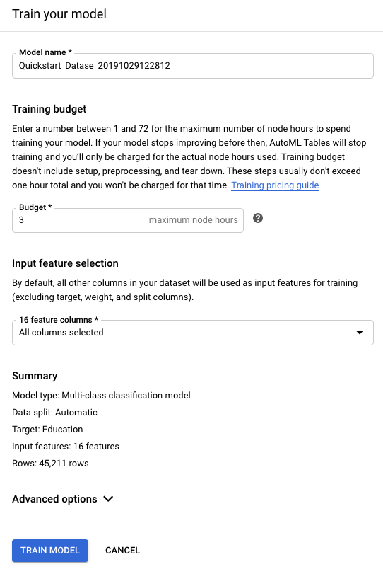 AutoML Tables 架构页面