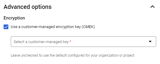 Protecting data with Cloud KMS keys | BigQuery | Google Cloud