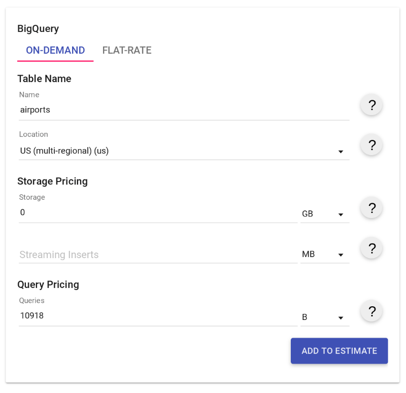 Estimating storage and query costs | BigQuery | Google Cloud