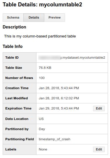 分割テーブルの詳細