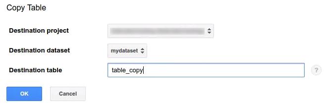 テーブルのコピー