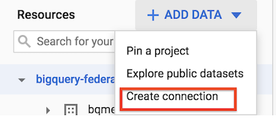 Create connection resource