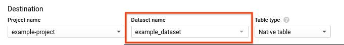 データセットの選択。