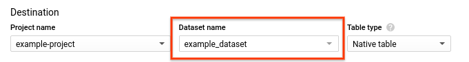 Selecione o conjunto de dados.