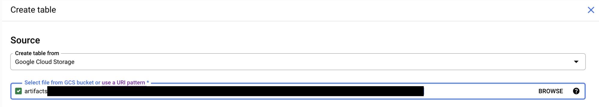Select file