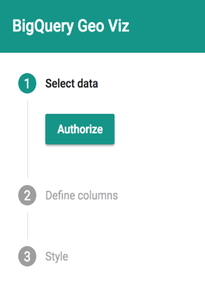 Geo Viz authorization button