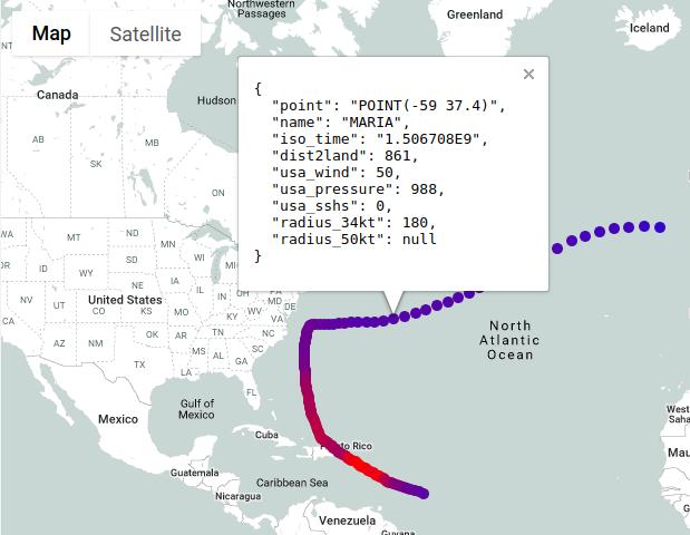 Detalhes dos pontos do mapa
