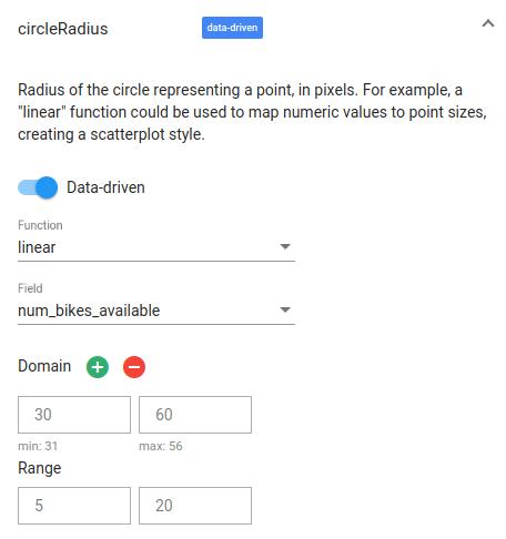 Circle radius.