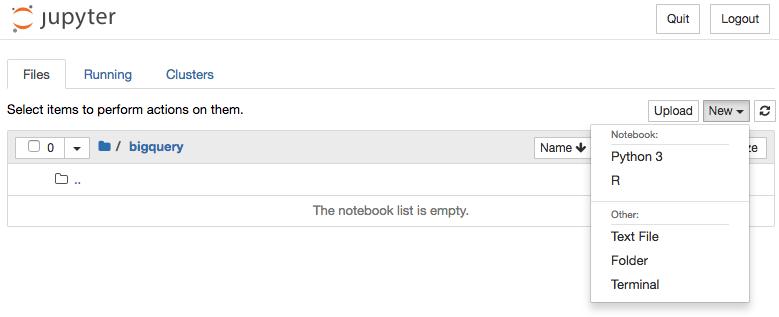 Screenshot: neues Jupyter-Python3-Notebook