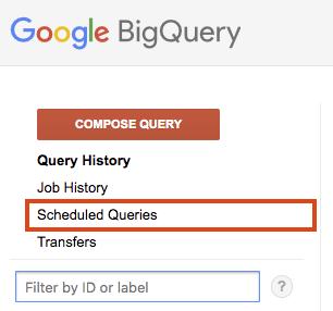 List scheduled queries