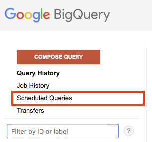 List scheduled queries