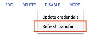 Botón de Actualizar copia de conjunto de datos