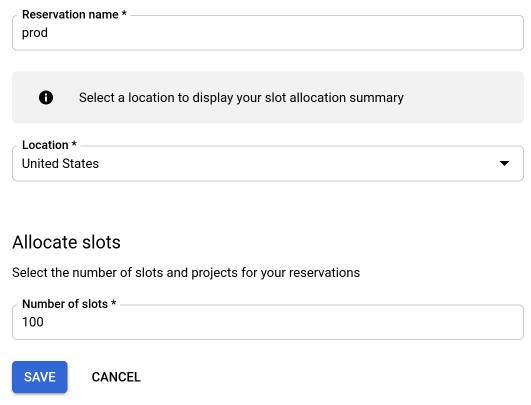 Create reservation information.