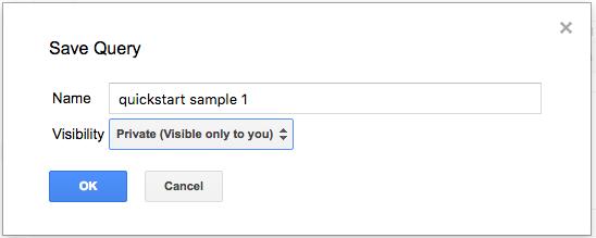 Save query dialog Box