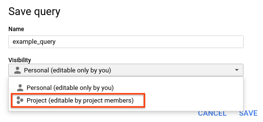 Save query project