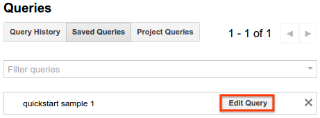 Edit query button