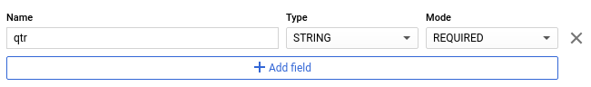 Add schema definition using the Add Field button