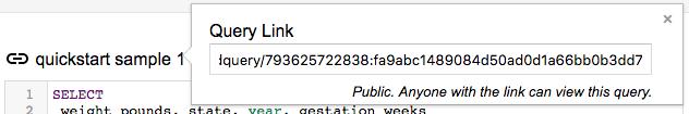 Public query link icon