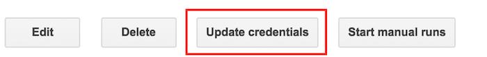 Update scheduled query credentials.