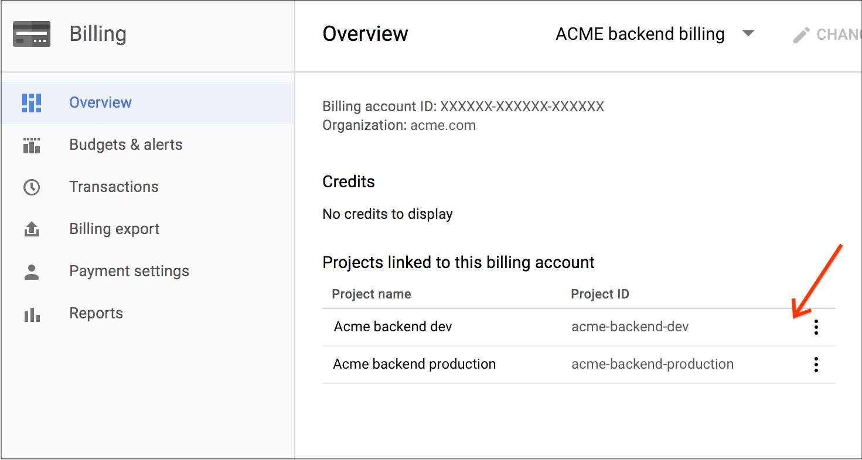 Configure o limite de orçamento no Console do Cloud.