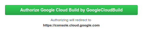 Screenshot of the authorize button