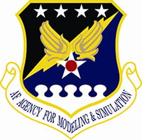 Logotipo da Air Force Agency for Modeling and Simulation