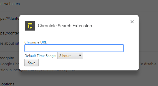 Chrome 검색 확장 프로그램 구성