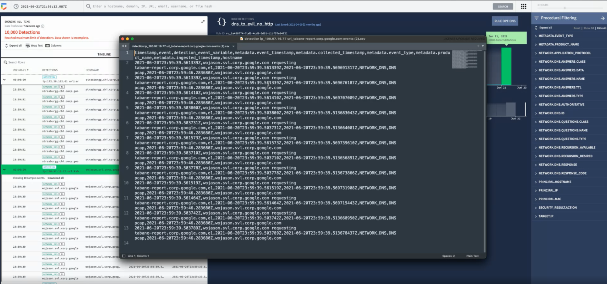 イベントのサンプル CSV ファイル