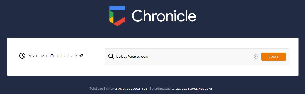 Rechercher un utilisateur à partir d'une page de destination