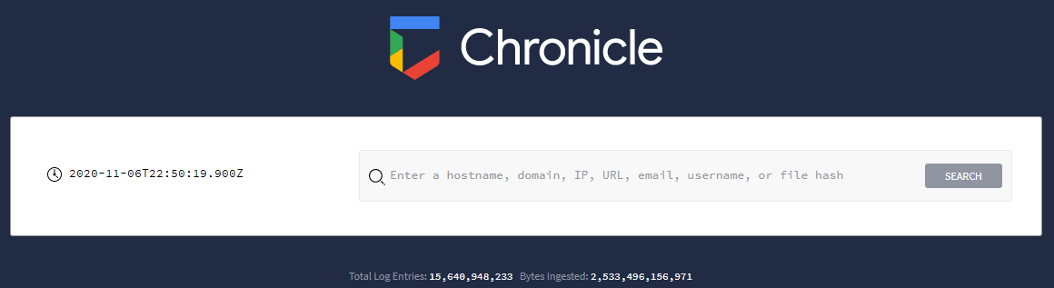 Chronicle Landing Page
