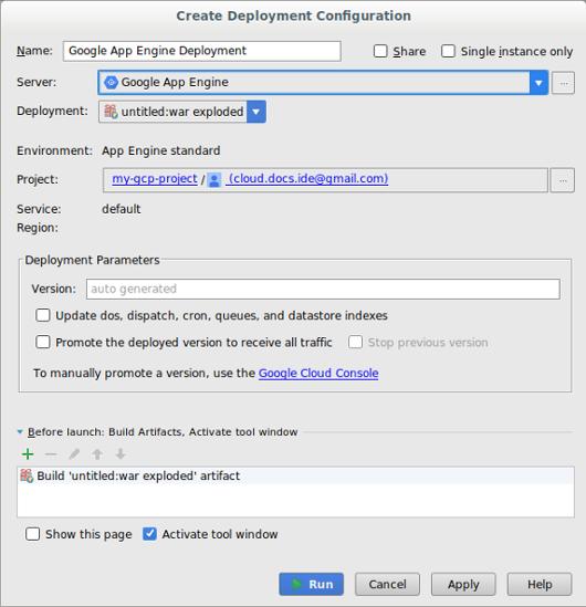 Screenshot mit dem jetzt sichtbaren Projekt-Auswahlfeld, das zuvor ausgeblendet war, bis das Server-Feld gefüllt wurde.