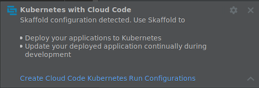 Create Kubernetes run target notification