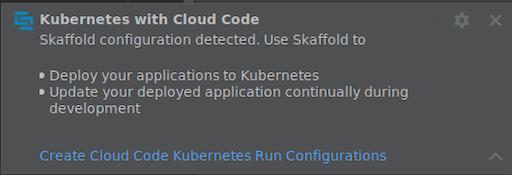 Create Kubernetes run target notification