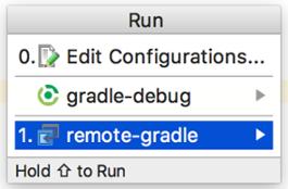 Screenshot showing the debug Configurations dialog.