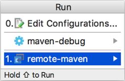 Screenshot showing the Run/Debug Configurations dialog.