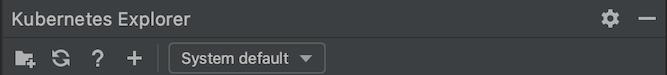 Botón Refresh (Actualizar) de KubernetesExplorer