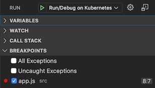 """Debug""视图左侧面板中的""Breakpoints""部分,支持添加、移除和停用断点"
