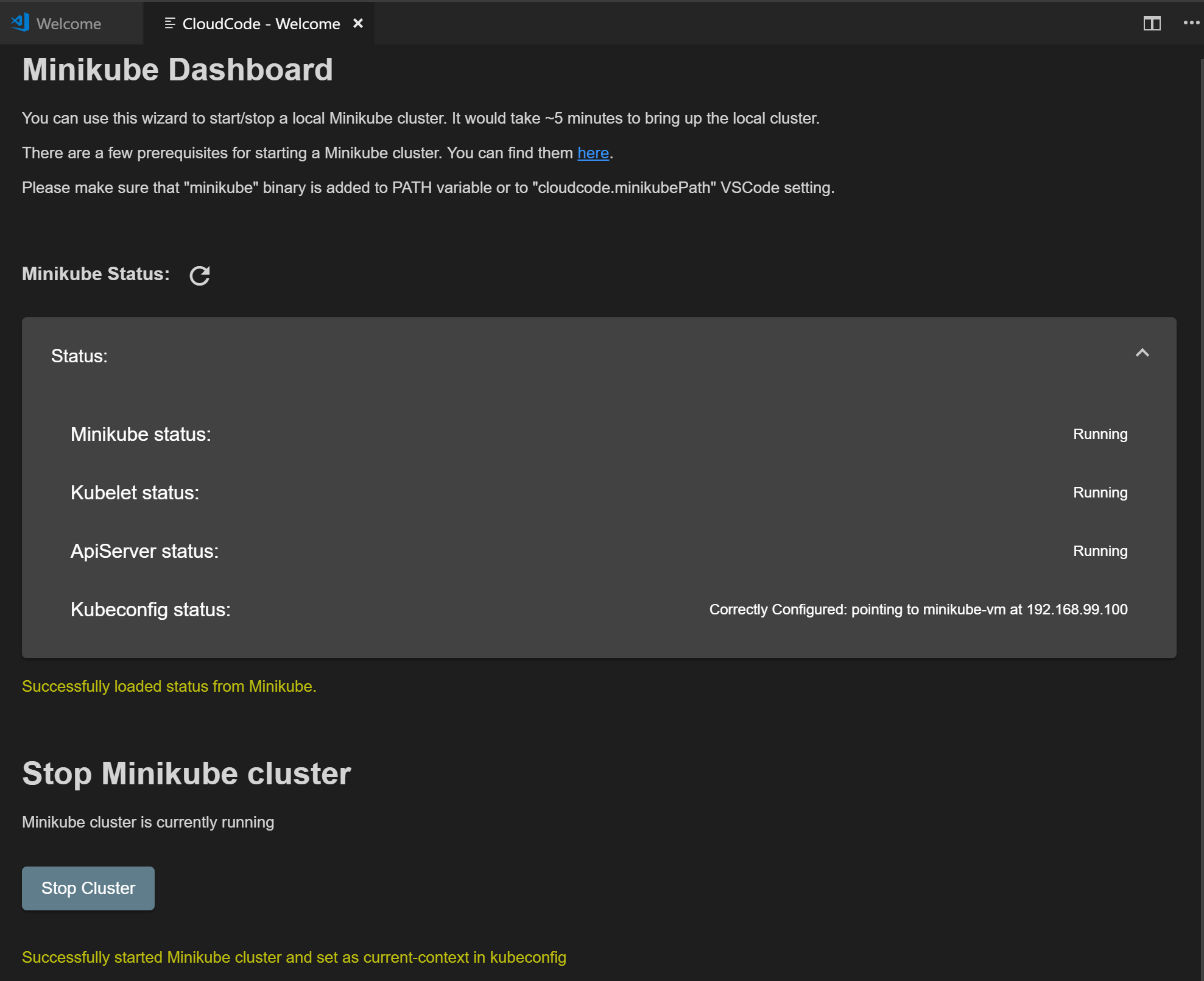 Adding a Kubernetes cluster   Cloud Code for VS Code