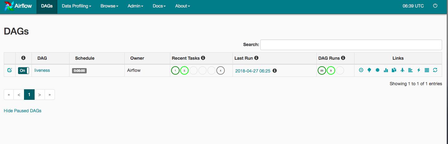 Airflow ウェブ インターフェース