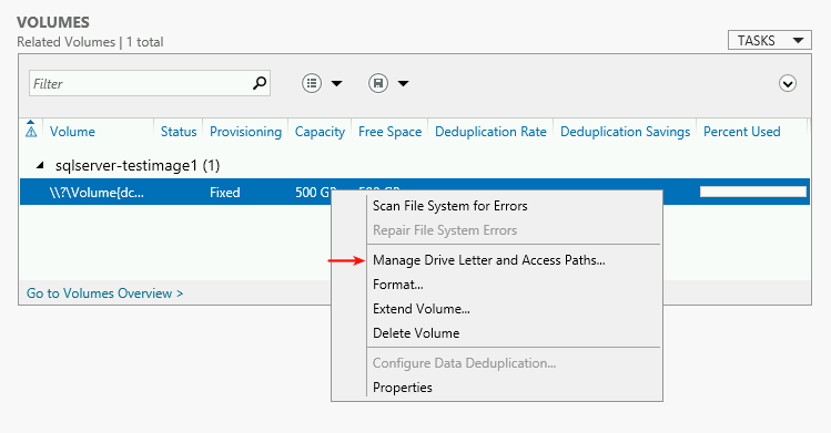 Manage Drive Letter and Access Paths.
