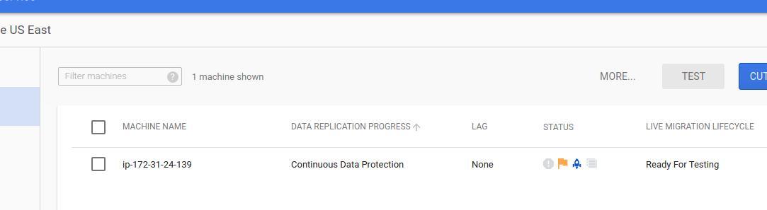 Screenshot of initial sync progress