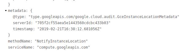 Screenshot of server ID