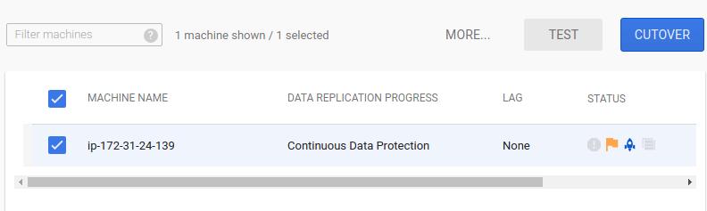 Capture d'écran des instances sélectionnées pour le test