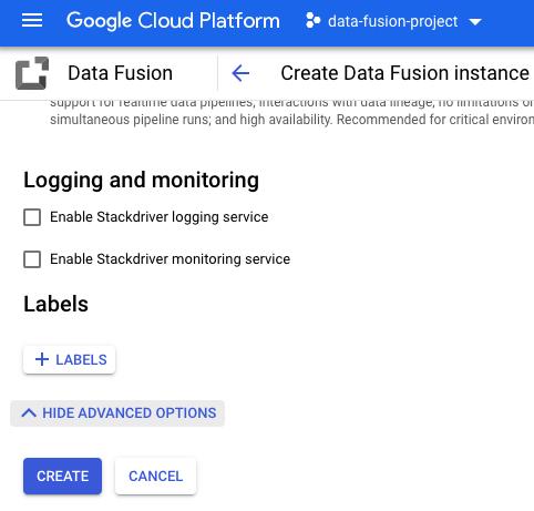 Habilita CloudLogging.