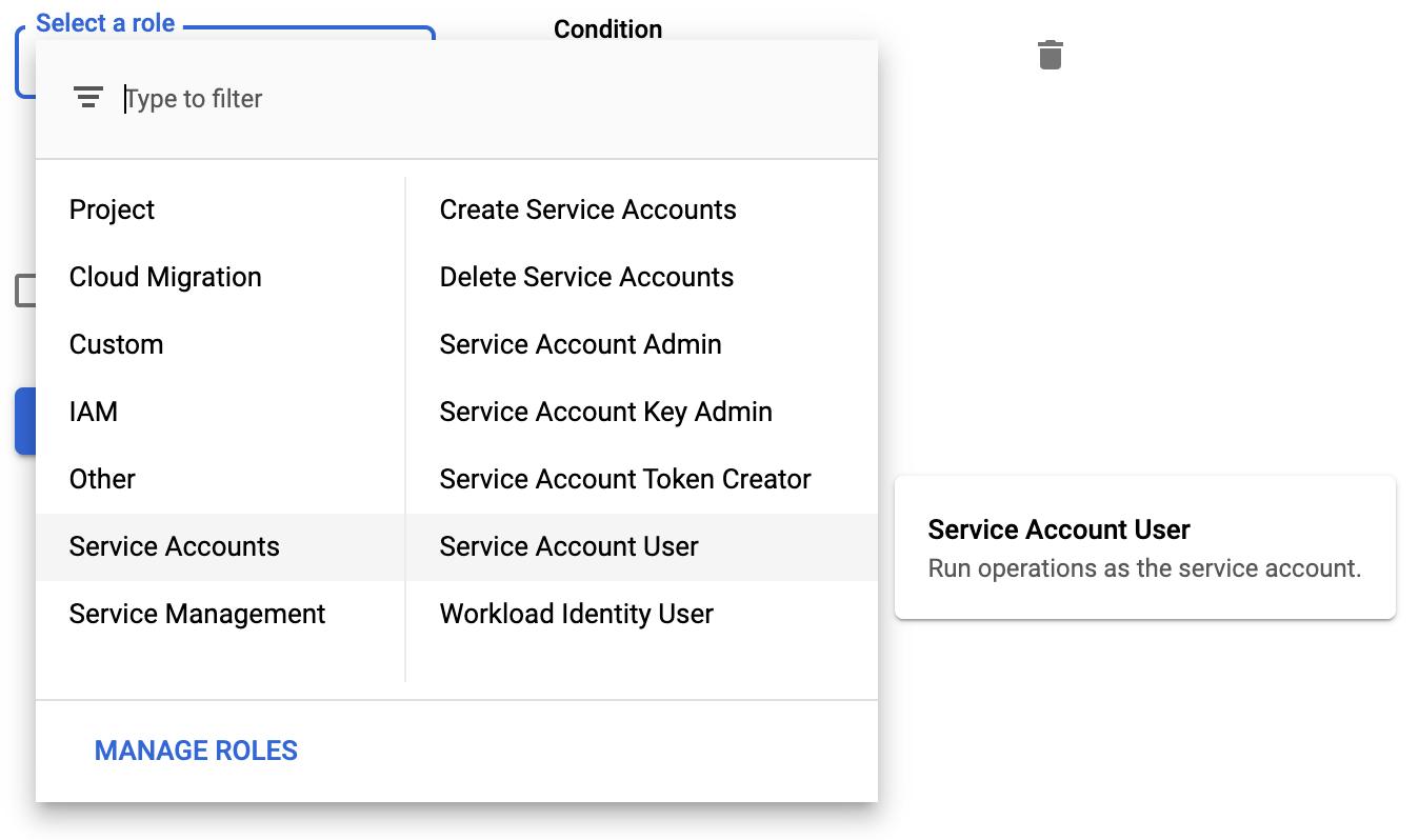 Service account user